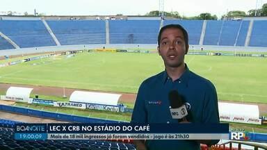 Londrina enfrenta o CRB no estádio do Café - Lec tenta acesso ao G4.