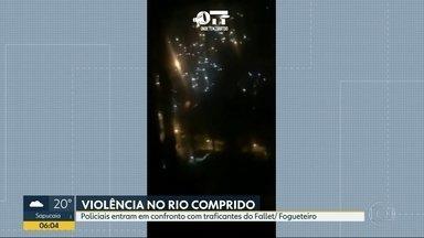 Morros do Fallet e Fogueteiro têm noite de tiroteios - Na segunda-feira (19), policiais do Bope fizeram uma operação nas comunidades do Rio Comprido para combater o tráfico de drogas, e teve confronto.