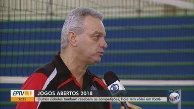 Ibaté recebe competições de vôlei dos Jogos Abertos - Competição ocorre no Ginásio Municipal da cidade.