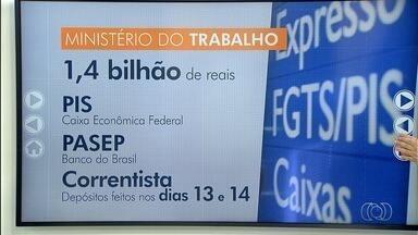 Mais de 62 mil trabalhadores têm direito ao PIS em Goiás - Pagamento do 5º lote começou a ser feito nesta terça-feira.