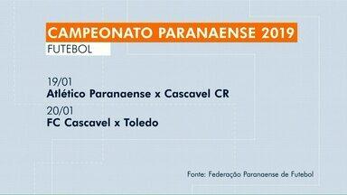 Definida tabela dos jogos do Campeonato Paranaense 2019 - Competição vai de 19 de janeiro a 21 de abril.