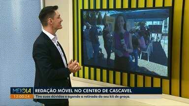 Redação Móvel da TV Digital está na Catedral de Cascavel nesta terça-feira - O sinal analógico vai ser desligado no dia 28 de novembro.