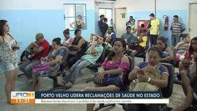Porto velho lidera reclamações de saúde no estado - Representantes discutiram o problema saúde pública em reunião.
