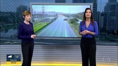 Seguem as obras na parte do viaduto que cedeu na Marginal Pinheiros - O viaduto está localizado na pista expressa da Marginal Pinheiros, no sentido da rodovia Castello Branco, em frente ao Parque Villa-Lobos.