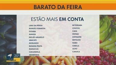 Veja frutas, verduras e legumes mais baratos nas feiras de Ribeirão Preto - Mamão formosa, goiaba, manga, melão, abacate, morango são alguns desses produtos.