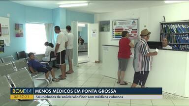 Mais de 50 cubanos deixam as unidades de saúde em Ponta Grossa - Eles deixam as unidades a partir desta quarta-feira (21).