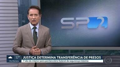 Justiça determina transferência de sete presos do interior para presídio Federal - O Ministério Público alegou que a presença dos presos oferece risco à segurança do sistema penitenciário da cidade.