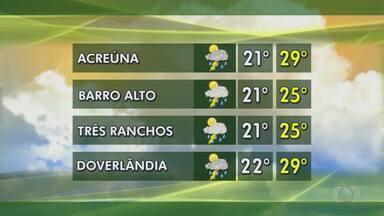 Confira a previsão do tempo para Goiás - Goiás registra alto índice de chuva no último mês, o que deve interferir na cadeia produtiva.