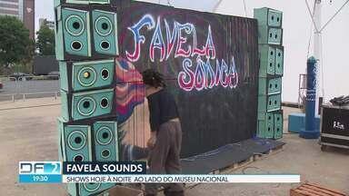 Favela Sounds traz shows e oficinas de graça - Festival Internacional de Cultura de Periferia chega à sua terceira edição em 2018, ao lado do Museu Nacional. Neste sábado (24), a programação vai até às 02h.