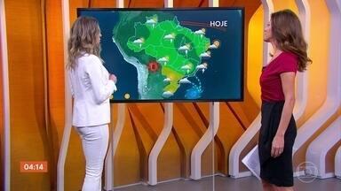 Meteorologia alerta para risco de temporal no Rio de Janeiro nesta segunda (26) - Previsão é de chuva na Bahia. Confira como fica o tempo em todo o país.