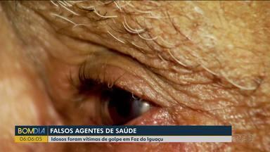 Idosos foram vítimas de golpe em Foz do Iguaçu - Os golpistas tiraram dinheiro do casal de idosos.