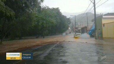 Chuva que atingiu a região causou estragos no fim de semana - Segundo a Defesa Civil, nesta cidades ninguém ficou desabrigado.