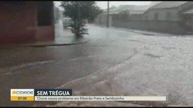 Chuva alaga vias no final de semana em Ribeirão Preto e Sertãozinho, SP - Apesar dos estragos, nenhum morador ficou ferido.