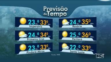 Veja as variações das temperaturas no Maranhão - Segundo a previsão do tempo a segunda-feira (26) em São Luís será de sol e aumento de nuvens pela manhã