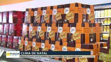 Produtos para a ceia de Natal já podem ser encontrados nos supermercados - Fim de Ano chegando e os supermercados já preparam o estoque de produtos.