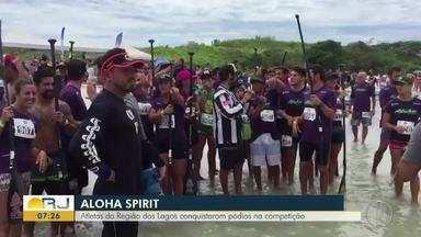 Atletas da Região dos Lagos conquistaram pódios no Aloha Spirit - Assista a seguir.