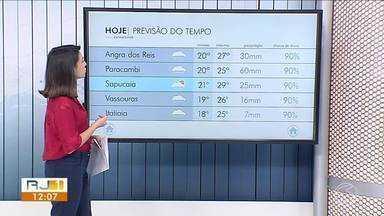 Meteorologia prevê chuva e instabilidade no Sul do Rio - Sol não aparece na maioria das cidades.