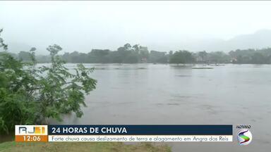 Forte chuva causa deslizamento de terra e alagamento em Angra dos Reis - Segundo Defesa Civil, no bairro Parque Mambucaba choveu 320 mm nas últimas 24 horas.