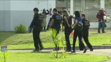 PF faz operação para prender responsáveis por série de ataques em Roraima, em julho - Quarenta e cinco mandados de prisão foram cumpridos. Todos contra presos que estavam no Rio Grande do Norte e em Roraima.