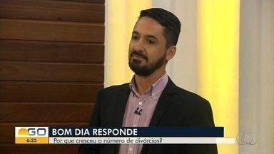 Bom Dia Responde fala sobre aumento no número de divórcios - Especialista tira dúvidas sobre o tema.