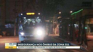 Zona Sul de SP sofre com arrastões frequentes em ônibus - Polícia registra 31 roubos dentro de ônibus na região de Santo Amaro.