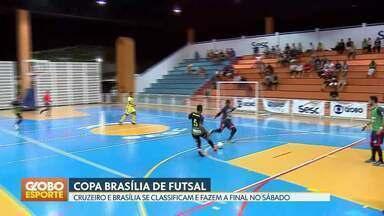 Copa Brasília de futsal - Cruzeiro e Brasília vão se enfrentar na final da competição.