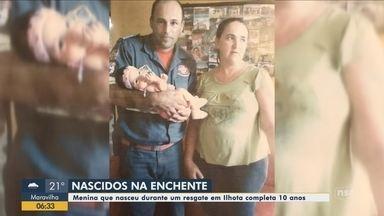 Menina que nasceu durante resgate na tragédia do Vale do Itajaí celebra 10 anos - Menina que nasceu durante resgate na tragédia do Vale do Itajaí celebra 10 anos