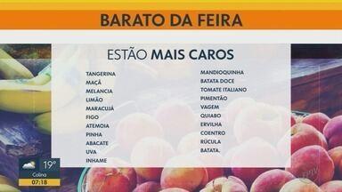 Banana, abobrinha e espinafre estão mais baratos na feira - Batata, maçã e vagem estão mais caros.