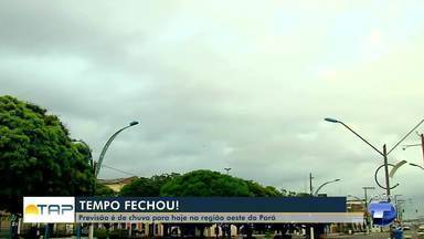 Previsão é de chuva a qualquer hora nesta quarta-feira na região oeste do Pará - Há dias a população estava reclamando do forte calor e esperando a tão sonhada chuva.