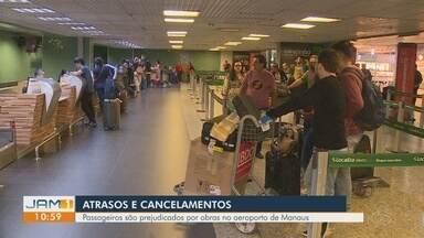 Mudança em horário de voo acumula filas e causa tumulto no Aeroporto de Manaus - Voo com destino a Brasília sofreu alteração devido a manutenção em aeronave