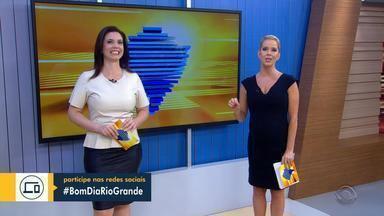 Se comunique com a Simone e a Daniela usando #BomDiaRioGrande nas redes sociais - Envie mensagens, informações, denúncias, usando a hashtag #BomDiaRioGrande.