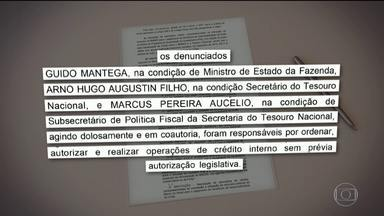 Guido Mantega, Bendine e ex-secretário do Tesouro viram réus por 'pedaladas fiscais' - O ex-ministro da Fazenda, Guido Mantega, o ex-secretário do Tesouro, Arno Augustin e o ex-presidente do Banco do Brasil , Aldemir Bendine no governo Dilma viraram réus por 'pedaladas fiscais'.