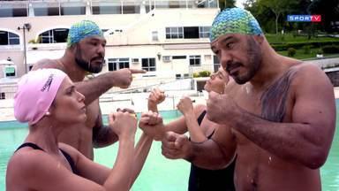 Irmãos Nogueira no nado sincronizado