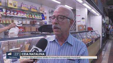 Pesquisa revela que alguns produtos da ceia natalina estão mais caros - A uva passa, por exemplo, teve reajuste de 26%, segundo o levantamento do site Mercado Mineiro.