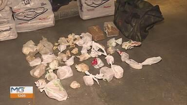 Polícia apreende 150 kg de maconha em Itabirito, na Região Central de Minas - Duas pessoas foram presas