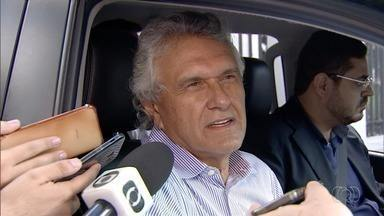 Ronaldo Caiado se reúne com empresários para discutir redução de incentivos fiscais - Ele recebeu empresários na casa do senador Wilder Morais.