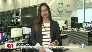 G1 no Bom Dia Rio: Penas de Sérgio Cabral podem ultrapassar 200 anos - O Tribunal Regional Federal julga nesta terça (4) um recurso do Ministério Público para aumentar a pena de uma das condenações do ex governador Sérgio Cabral na Lava Jato.