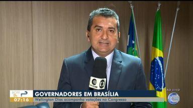 Wellington Dias acompanha votações no Congresso em Brasília - Wellington Dias acompanha votações no Congresso em Brasília