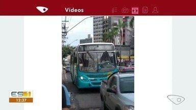 Ônibus não param nos pontos durante greve - Passageiros registraram a situação.