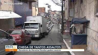 Moradores reclamam de assaltos constantes no bairro de Marechal Rondon - Eles comentam que na região não acontecem rondas frequentes.
