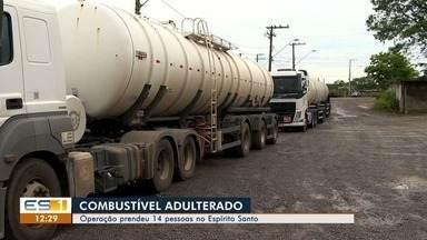 Operação policial apreende 100 mil litros de combustível adulterado que iria para postos - 14 pessoas foram presas no ES.