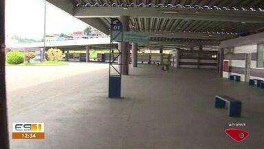 Terminal de Campo Grande fica aberto neste 2º dia de greve, mas sem ônibus no ES - Isso acontece por causa da greve dos rodoviários.