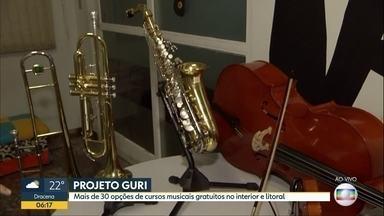 Projeto ofecere aulas de música gratuitas no interior e litoral - Projeto Guri tem mais de 30 opções de cursos musicais