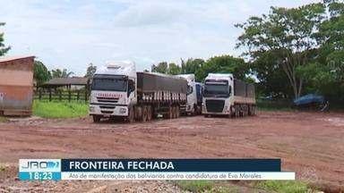 Fronteira de Guayaramerín é fechada por bolivianos - Moradores manifestam contra reeleição do atual presidente da Bolívia, Evo Morales.