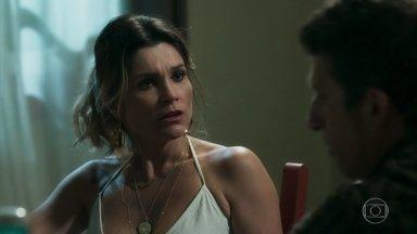 Rita de Cássia revela a Machado que decidiu fazer teste para filme - Esposa do delegado pediu que Leonardo fizesse o teste com ela