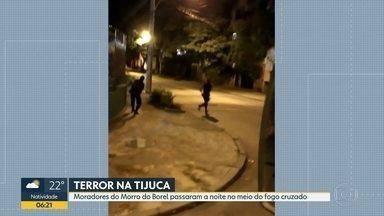 Morro do Borel tem noite de intenso tiroteio - Moradores passaram a noite de quinta-feira (6) no meio do fogo cruzado.