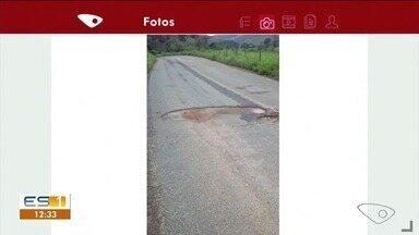 Estrada de Ibitirama está com diversos buracos - Quem passa pela região reclama do estado da pista.