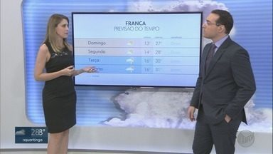 Confira a previsão do tempo para o domingo (9) na região de Ribeirão Preto - Temperatura máxima chega a 29°C.
