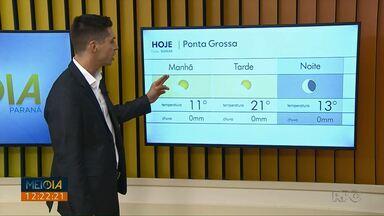 Tempo fica encoberto neste sábado (08) nos Campos Gerais - Máxima em Ponta Grossa não ultrapassa 21°C.