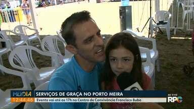 Moradores aproveitam serviços de graça em ação comunitária no Porto Meira - O evento segue até às 17h